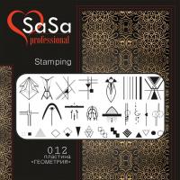 Stamping plate SaSa №12