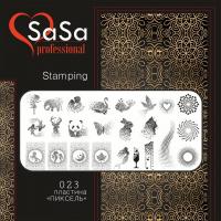 Stamping plate SaSa №23