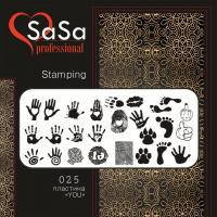Stamping plate SaSa №25