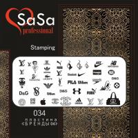 Stamping plate SaSa №34