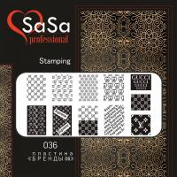 Stamping plate SaSa №36