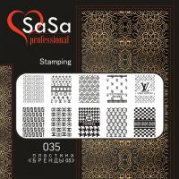 STAMPING PLATE SASA №35